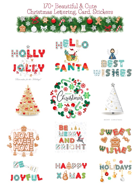 Christmas Lettering Stickers . screenshot 6