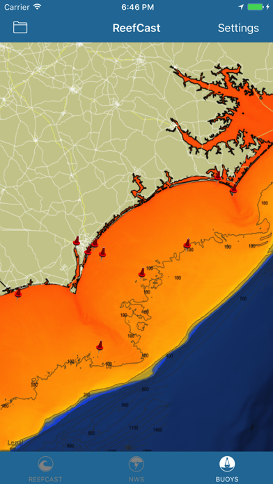 ReefCast Marine Weather Screenshot