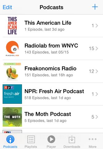 PodCruncher Podcast App screenshot 2