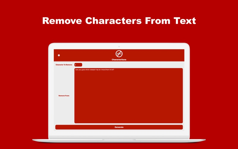 CharacterGone: Remove Letters