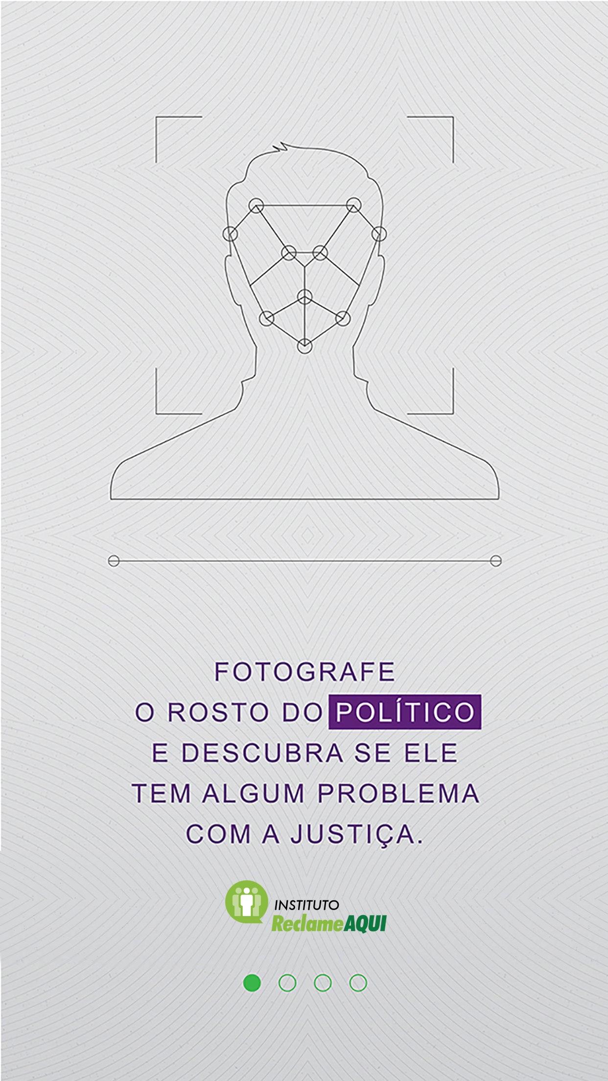 Screenshot do app Detector de Ficha de Político