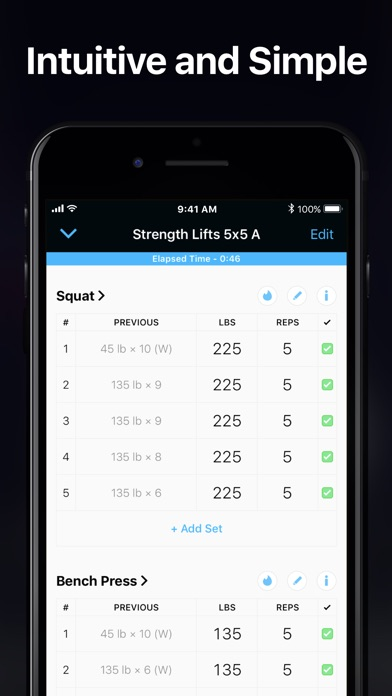 Strong Workout Tracker Gym Log Screenshot