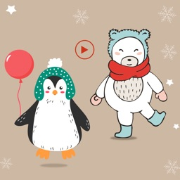 Polar Bear & Penguin Stickers