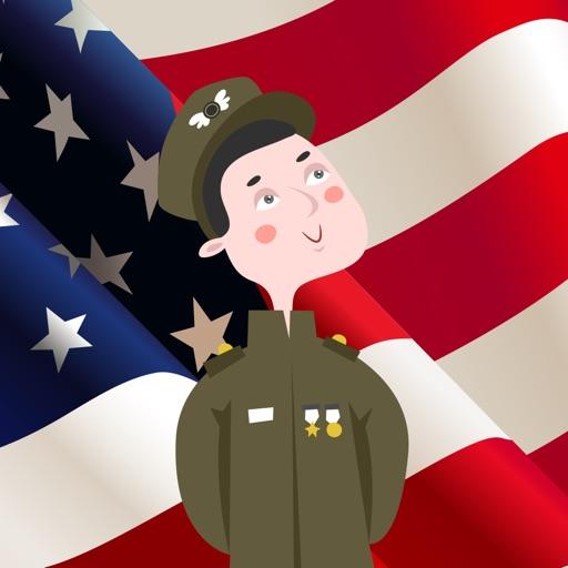 Veterans Day Thank You Sticker