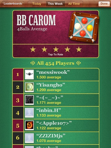 BB キャロムビリヤードのおすすめ画像5