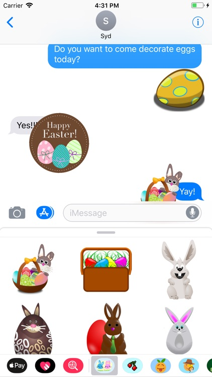 Easter Bunny & Egg Stickers screenshot-0