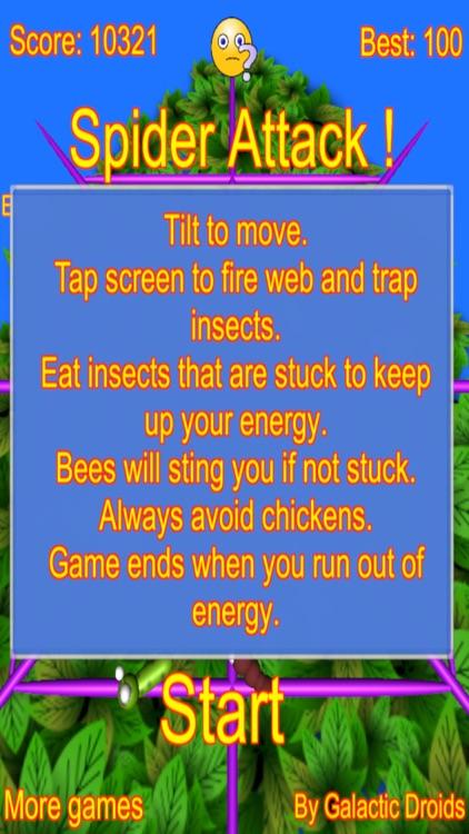 Spider Attack arcade game screenshot-4