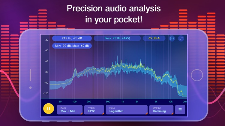 Audio Spectrum Analyzer dB RTA screenshot-0