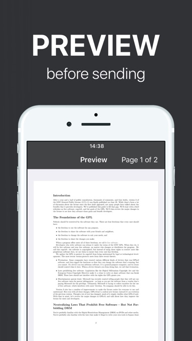 FAX from iPhone - send fax for Windows