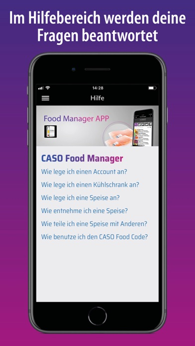 Screenshot for CASO Food Manager in Germany App Store