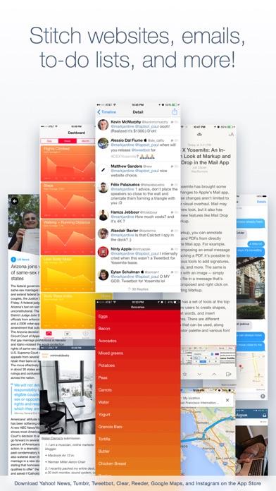 App Store Screenshot of Tailor - Screenshot Stitching