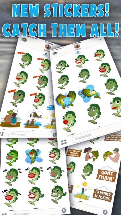 Bass Fishing Emoji Stickers screenshot-3
