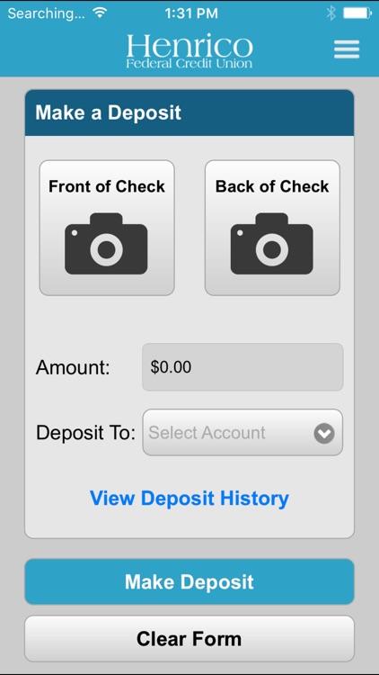 Henrico FCU Mobile Banking screenshot-3