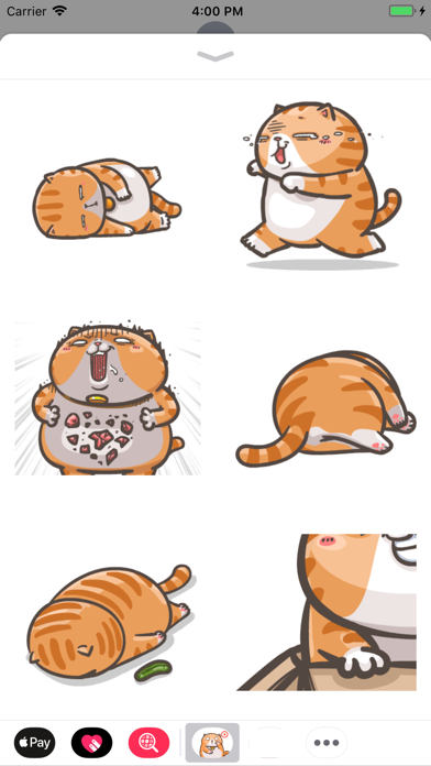 Chubby Cat Stickers Animated screenshot three