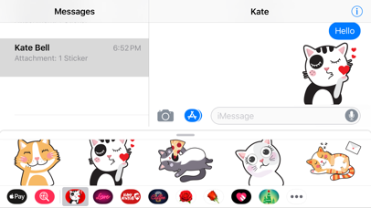 Screenshot for Angry Kitten iMessage Stickers in Egypt App Store