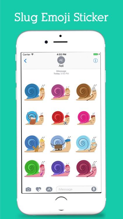 Snail Emoji Stickers Pack