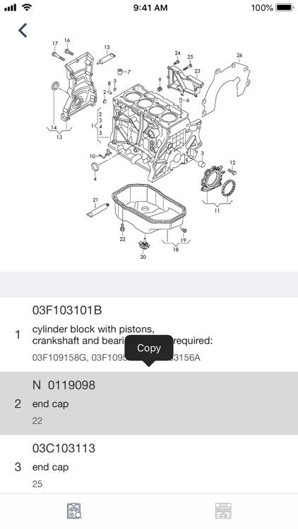 Car parts for Skoda diagrams