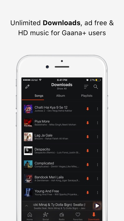 Gaana Music - Songs & Radio screenshot-4