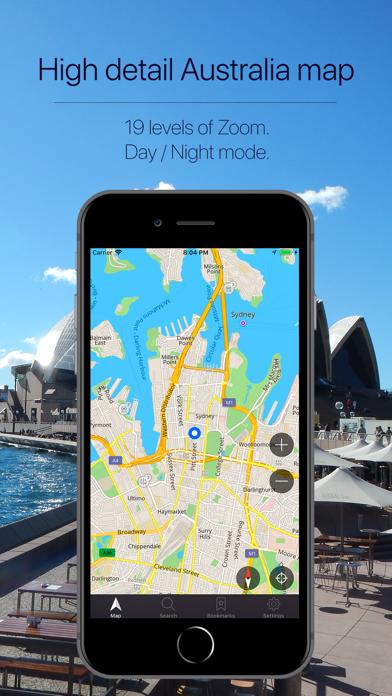 Australia Offline Navigation Screenshot