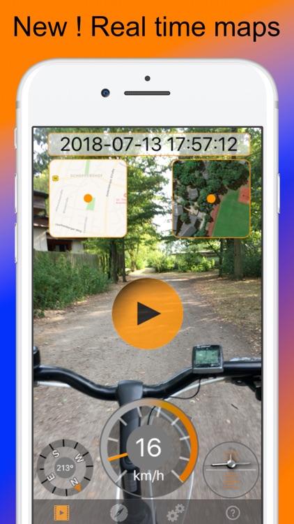 Action Cam w. Maps,speed,GPS.. screenshot-0
