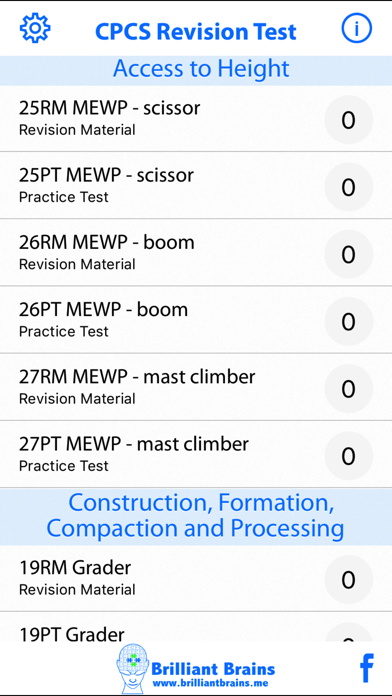 CPCS Revision Test Lite screenshot two