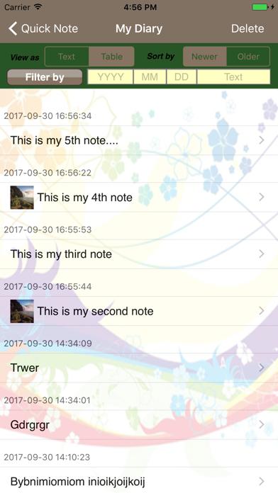 Quick Diary screenshot three