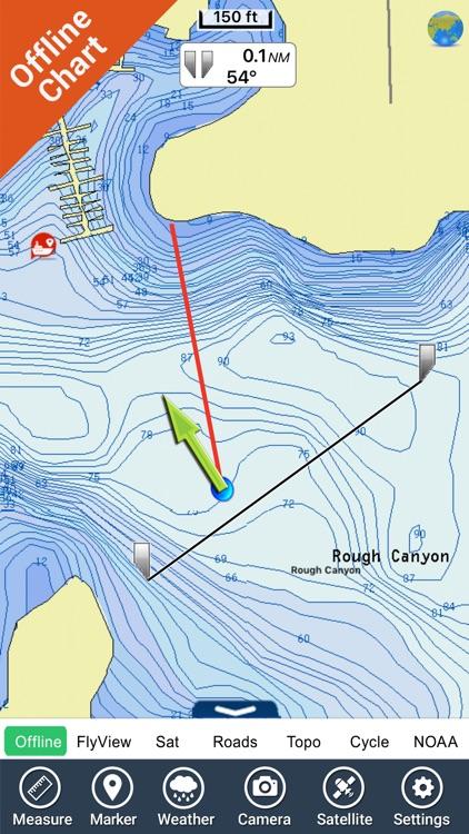 Amistad lake GPS charts fishing maps Navigator
