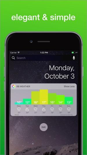 Regenbogen Wetter Widget Screenshot