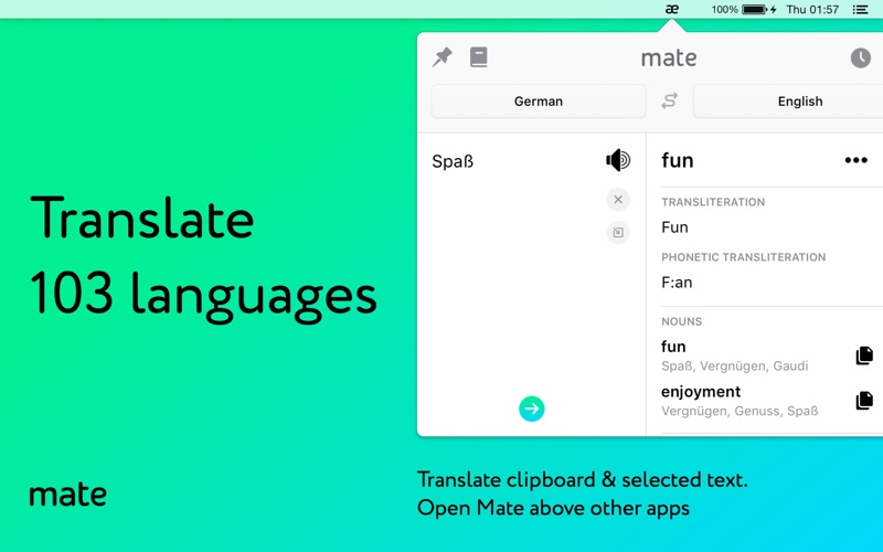 Mate: Universal Tab Translator Screenshots