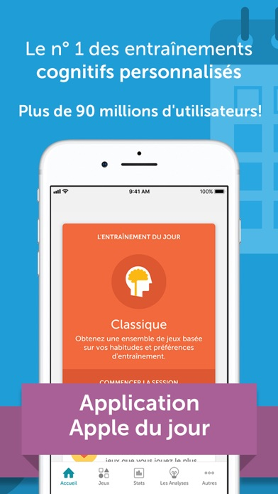 Screenshot for Lumosity : jeux quotidiens in France App Store