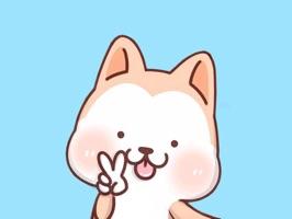 Hachi - 秋田犬 絵文字のステッカー