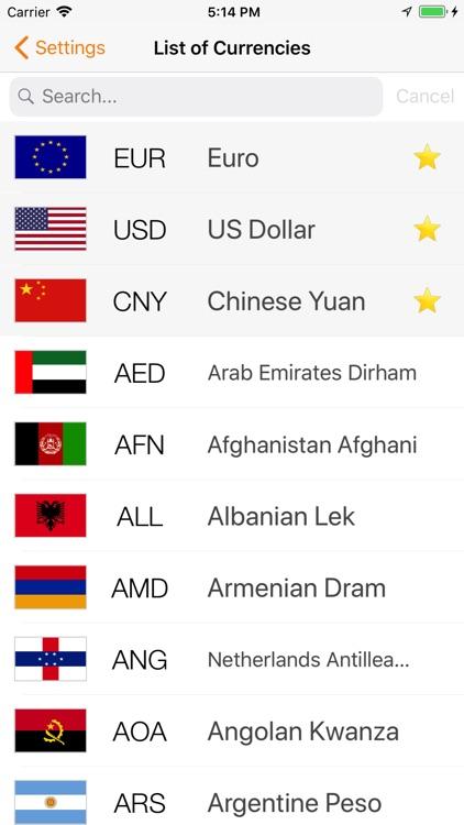 Currency converter: Exchange