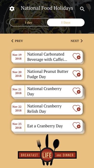 National Food HolidaysScreenshot of 6