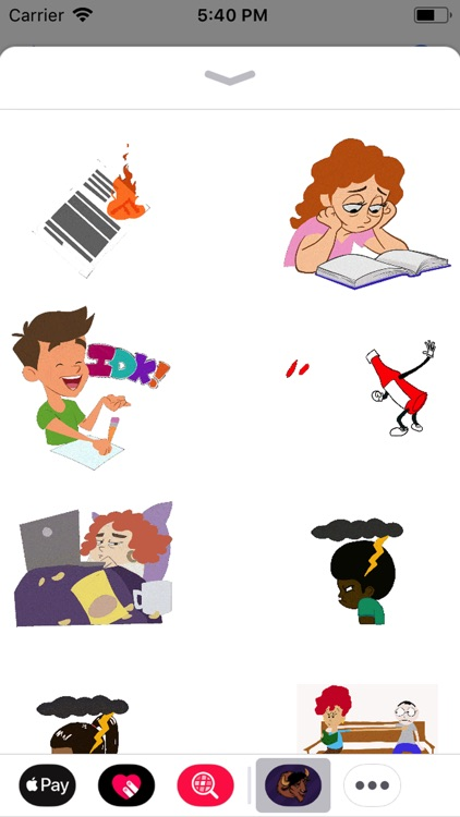College Animated Life Stickers
