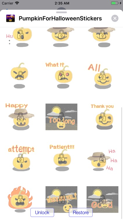Pumpkin For Halloween Stickers screenshot-4