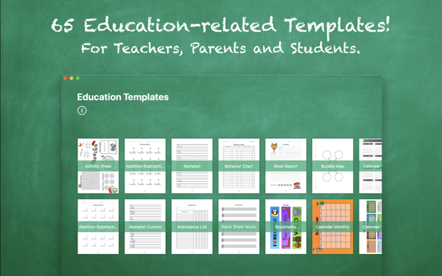 education templates by nobody on the mac app store