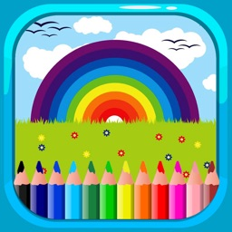 Beauty Painting Games Coloring Rainbow Page