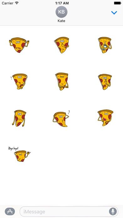 Cute Pizza - PizzaMoji Sticker screenshot 3