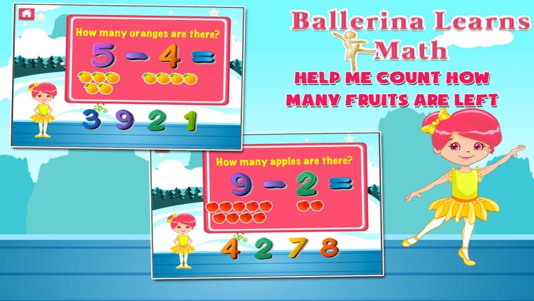 Ballerina Math Mania screenshot-1