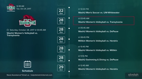Screenshot #3 for WashU Sports Network