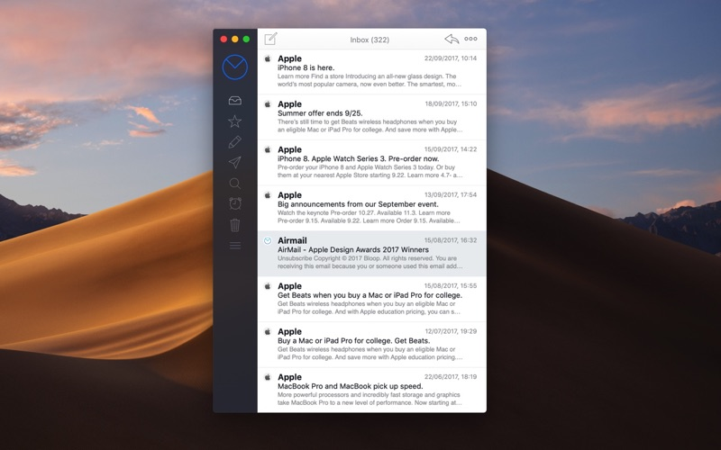 Airmail 3 Screenshots