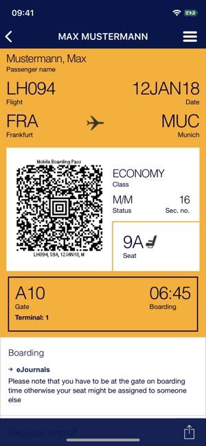 Lufthansa On The App Store