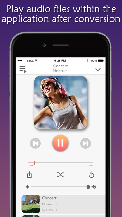 Convert Video to Mp3 Plus Screenshot on iOS