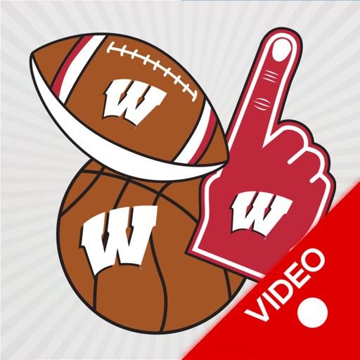 Wisconsin Badgers Animated Selfie Stickers