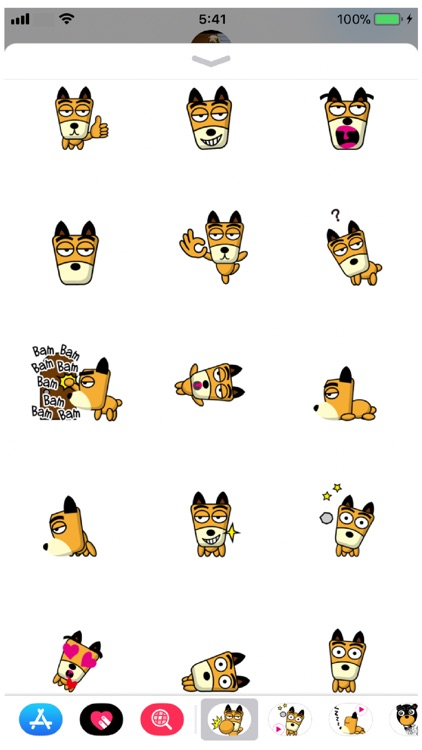 TF-Dog 1 Stickers