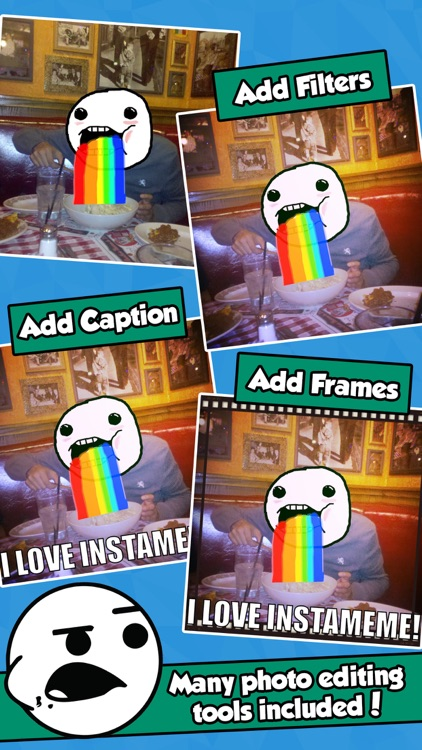 InstaMeme! - Photo Editor with Funny Meme Stickers