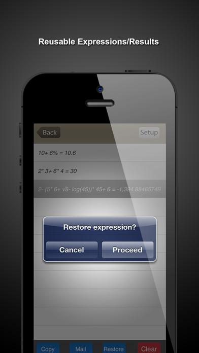 CalcQX LITE - the calculator Screenshot on iOS