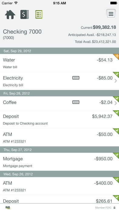 INB Cash Management Mobile screenshot