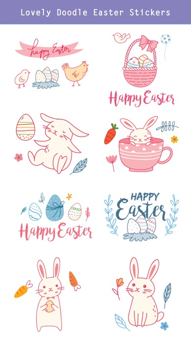 Hand Drawn Easter Day Stickers screenshot 3