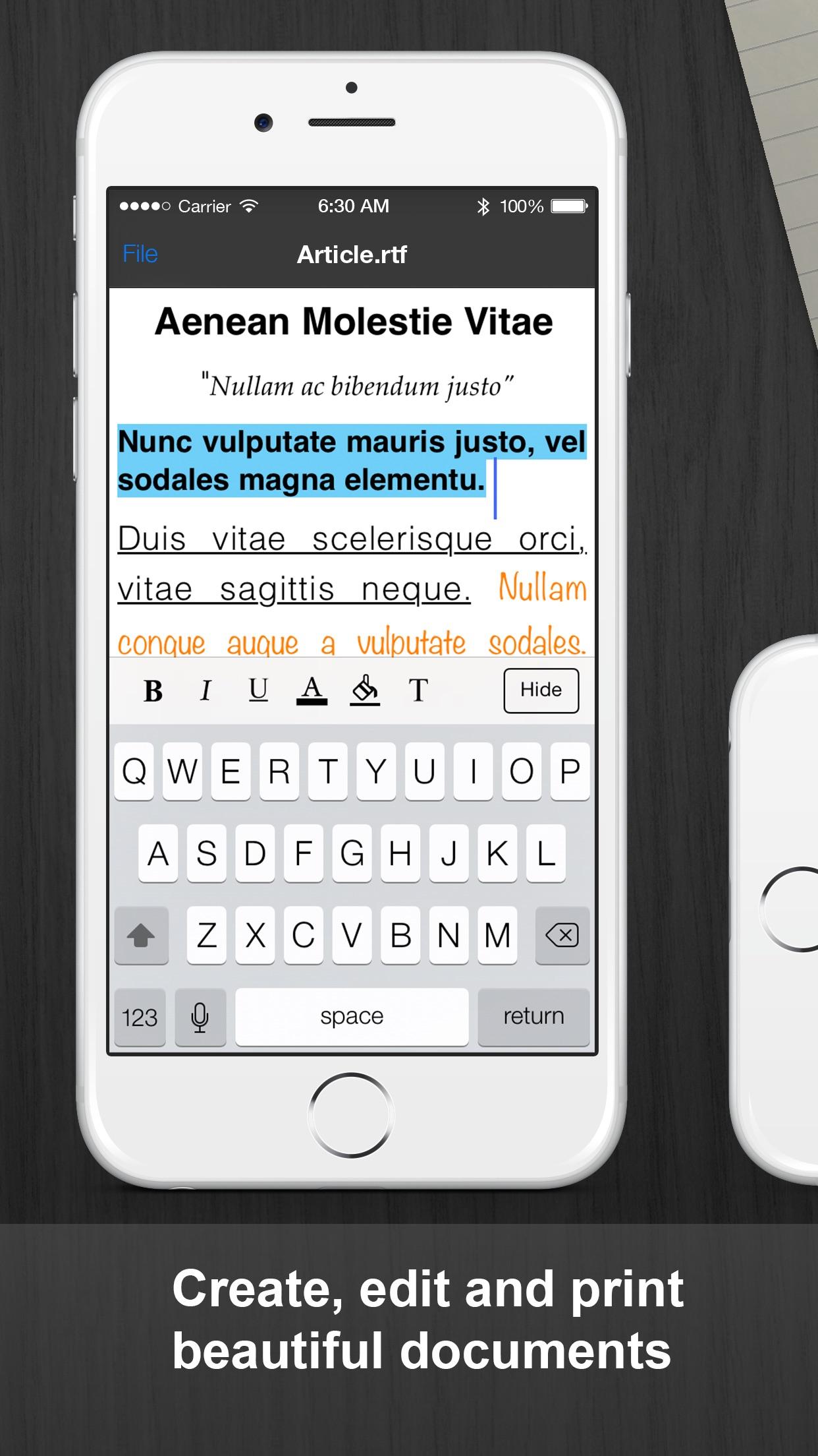 Documents Pro - Files Editor Screenshot